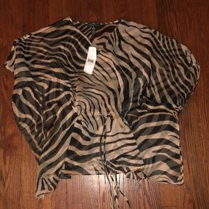 Nwt ralph lauren top zebra petite small